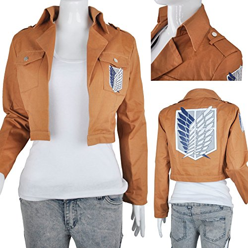 Attack On Titan Shingeki No Kyojin Cape Pfadfinder Legion Khaki Jacke Kostüm (L)