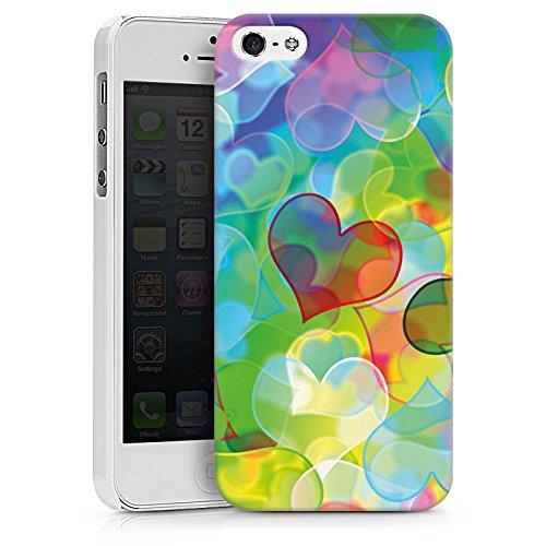 Apple iPhone X Silikon Hülle Case Schutzhülle Love Plexi Bunt Herz Hard Case weiß