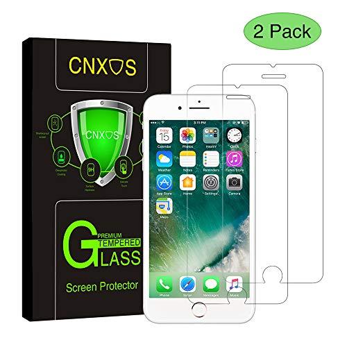 [2 Stück] Panzerglas Schutzfolie für iPhone 6/6s, CNXUS iPhone 6 6s Panzerglasfolie Ultra-klar 9H Härte Anti-Öl,Kratzer und Blasenfrei, 3D Touch Kompatibel iPhone 6/6s Displayschutzfolie
