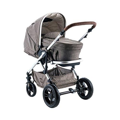 Moon LUSSO Kombi Kinderwagen - Ein Hauch von Luxus - brown-melange