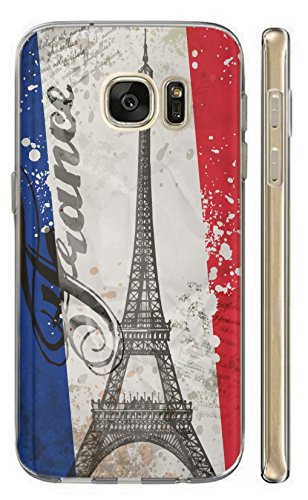 Hülle für Samsung Galaxy A5 2016 Hülle Softcase TPU Handyhülle für Samsung A5 2016 Cover Backkover Schutzhülle Slim Case (1178 Paris Eifelturm Frankreich Blau Weiß Rot)