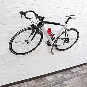 Relaxdays Soporte de bicicleta para la pared, metal, 16 x 10 x 16 cm, 0.6 Kg, color rojo