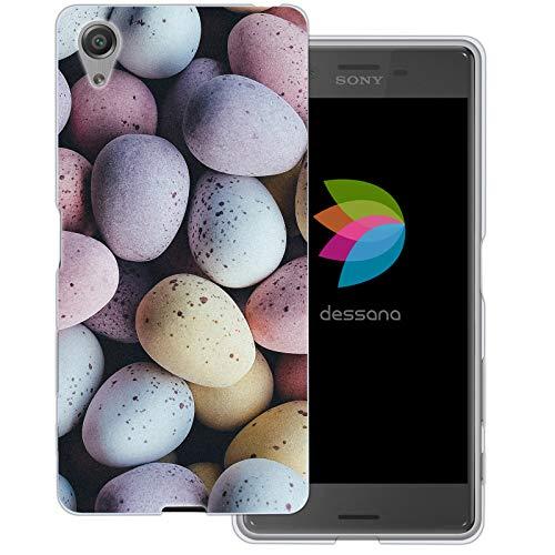 dessana Candy Süßigkeiten Transparente Schutzhülle Handy Case Cover Tasche für Sony Xperia X Oster Eier