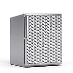 Kühlschrank 60x80 cm Kühlschranktattoo Küche   Dekor Kühlschrank Klebefolie Sticker Aufkleber abwaschbar Kühlschrank renovieren   Muster Ornament Falling Cubes - Grau