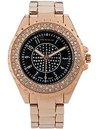 Jean Bellecour A0267-6 - Reloj de pulsera Mujer, Chapado en acero inoxidable, color Rosa