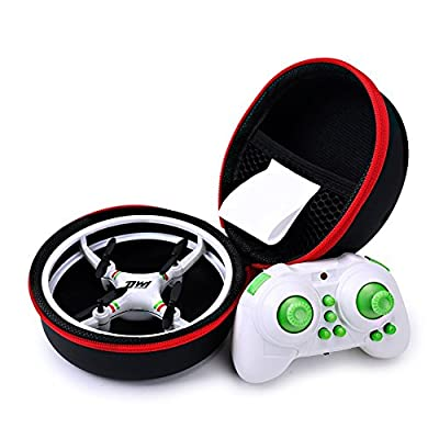 DW1 Mini Quadcopter Drone for kids, 3D flip UFO Design Headless Mode Mini Drone toy, RC Quadcopter with Portable Transport Case …