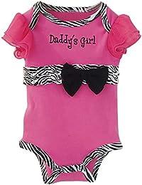 TOOGOO(R) New Fashion Baby Clothing Set Baby Girl Sets Romper+Tutu Skirt+Headband Newborn bebe Spring Summer Clothes-Rosy with Zebra stripe,12M
