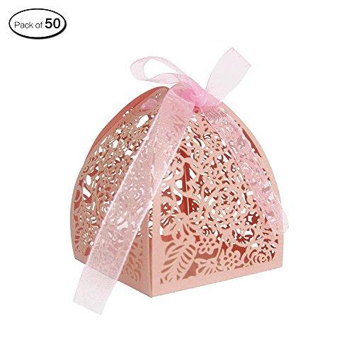 Zhi Jin 30Stück geschnitzt Hohl Rosen Hochzeit Candy Boxen Blumen Chocolate Box Geschenk Party Geburtstag Deko rose