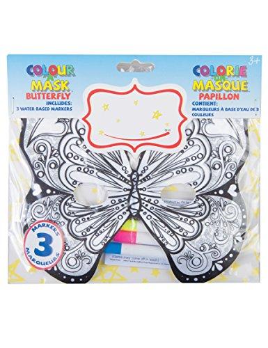 e Schmetterling-Maske für Kinder Bunt (Schmetterlings Masken Für Kinder)