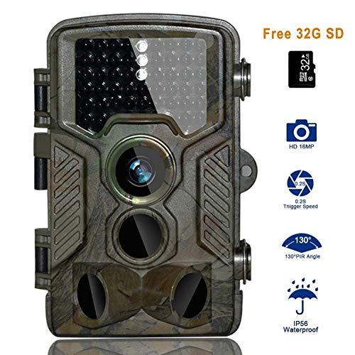 DOSNVG Jagdkamera , HD-Nachfolgekamera , 16MP 1080P Wildlife-Kamera , Nachtversion , IP66 Wasserdichtes 130 ° Weitwinkelobjektiv 120 ° Erkennung