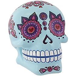 Something Different Azul Candy Skull Mexican Festival de Dead Inspirado Caja de Dinero