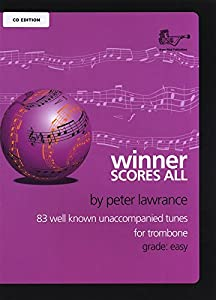 Winner Score All Bass Clef Trombone (Book & CD)
