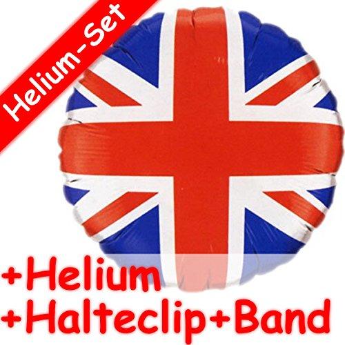 Carpeta Folienballon * Flagge GROSSBRITANNIEN * + Helium FÜLLUNG + Halte Clip + Band * zur Mottoparty // Union Jack Folien Ballon Deko Ballongas Mädchen Jungen Geschenk Irland England EU