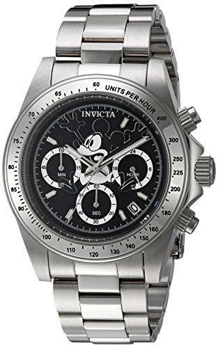 Invicta 22864 Disney Limited Edition - Mickey Mouse Unisex Wrist Watch Stainless Steel Quartz Black Dial