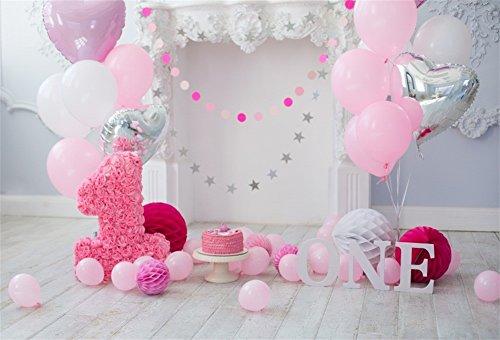 YongFoto 1,5x1m Vinilo Telon de Fondo Cumpleaños 1 año Hermosas Decoraciones...