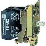 Schneider Electric ZB4BW0G62 Harmony Base / Estructura del Botón Luminoso, LED Integrada 1O, 22  mm Diámetro, 110-120V, 1NC, Azul
