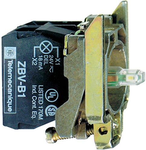 Helle Knöpfe (Schneider Electric ZB4BW0G63Harmony Base/Struktur des Knopf integrierte LED Hell, 2F, 22mm Durchmesser, 110–120V, 2nicht, blau)