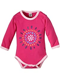 Pippi - 3461 Body Ls-Solid W. Frontprint - Body Bébé Fille