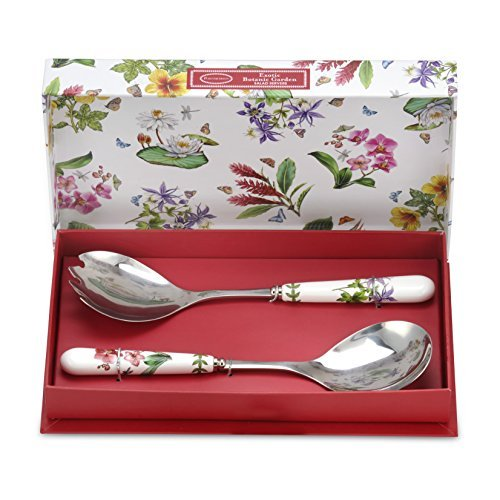 Portmeirion Exotic Botanic Garden Salad Servers, 10-Inch, Set of 2 by Portmeirion -