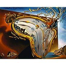 Black Creations Reloj de fusión Salvador Dali (Melting Watch) Póster Lienzo Cuadro Impresión artística