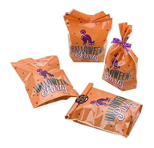 Black Temptation Pack von 100 schönen Süßigkeiten Papers Halloween Cookie Taschen, M2