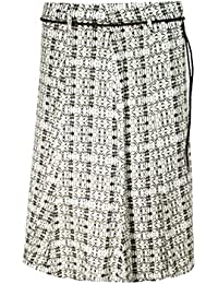Olsen Patterned Linen Skirt