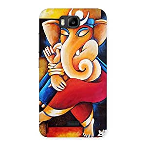 Enticing Ganesha Abstract Art Back Case Cover for Honor Bee