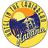 Havana Hotel Caribbean City Sunset Travel Alta Calidad De Coche De Parachoques Etiqueta Engomada 12 x 12 cm