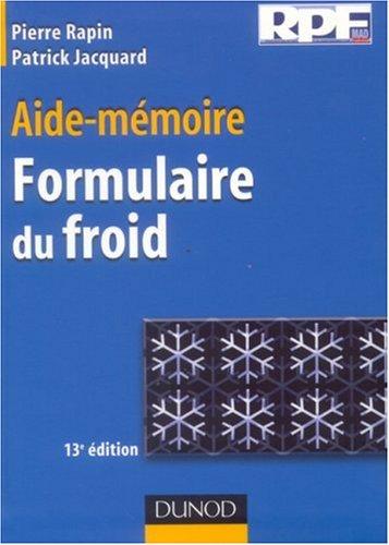 Aide-mmoire Formulaire du froid