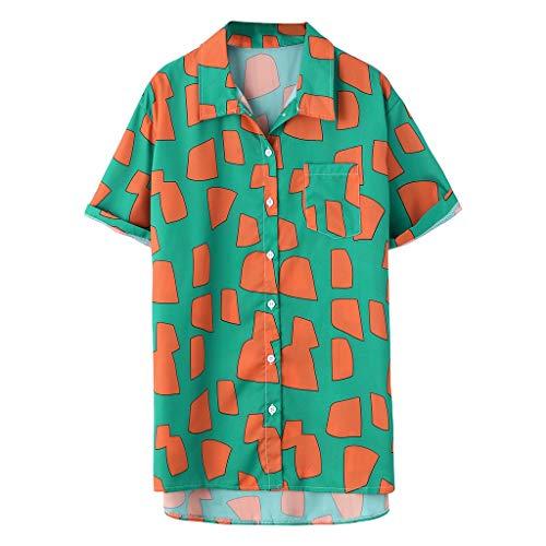 2f11c5641aee Zarupeng Funky Camisa Hawaiana Se?ores Manga Corta Bolsillo Delantero  Impresiš®n de Hawaii Playa Camisas Hombre Verano Manga Corta Hombre  Camiseta Floral ...