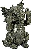 Gartendrache streckt Zunge raus Drache Figur Gargoyle Figur