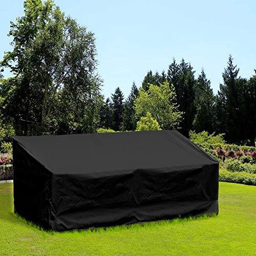 littlegrass Schutzhülle für Gartenbank 4-Sitzer, Wasserdichtes Atmungsaktives Oxford-Gewebe Gartenbank Abdeckung(190x66x63/89cm) - Schwarz