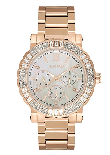 QUANTUM Damen-Armbanduhr Impulse Chronograph Quarz Edelstahl beschichtet IML433.420