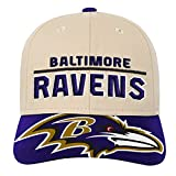 NFL by Outerstuff NFL Baltimore Ravens Youth Boys Retro Style Logo Structured Hat Ravens Purple, Youth One Size