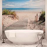 Weg Strand Sand Natur- Forwall - Fototapete - Tapete - Fotomural - Mural Wandbild - (1998WM) - XXL - 368cm x 254cm - Papier (KEIN VLIES) - 4 Pieces