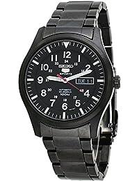 Seiko - SNZG17K1 - 5 Sports - Montre Homme - Automatique Analogique - Cadran Noir - Bracelet Acier plaqué Noir