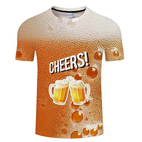 Kurzarm Beer_3 3D Digitaldruck T-Shirt Männlich TXKH3056 XXL