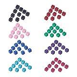 NBEADS 1 Confezione di 320 Pezzi di Perline di Dadi Acrilici con Foro da 1.5 mm, 8 Colori Diversi Forma di Cubo di Plastica Branelli Allentati Puntini Bianchi Cubo Dadi Perline Artigianali