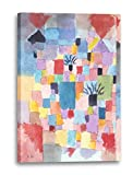 Paul Klee - Südliche Gärten (1919), 60 x 80 cm (weitere Größen verfügbar), Leinwand auf Keilrahmen gespannt und fertig zum Aufhängen, hochwertiger Kunstdruck aus deutscher Produktion (Alte Meister bis Moderne Kunst). Stil: Abstrakte Malerei, Abstrakte Kunst, Expressionismus, Kubismus