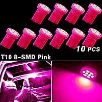 10x viola / rosa t10 lato cuneo 8-smd cupola mappa luce w5w 2825 158 192 168 194 ( Colore della luce : Viola