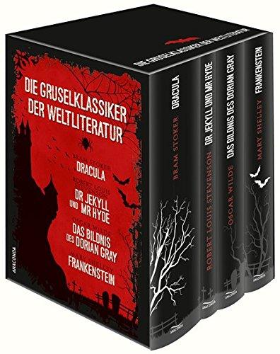 Preisvergleich Produktbild Die Gruselklassiker der Weltliteratur: Frankenstein / Dr. Jekyll und Mr. Hyde /  Dracula / Das Bildnis des Dorian Gray (4 Bände im Schuber)