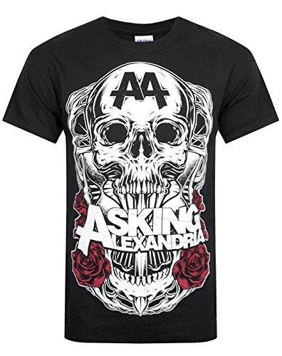 Asking Alexandria ufficiale UNI-SEX maglietta Nero Ombra nuovo 2014, Black, Small 36-38