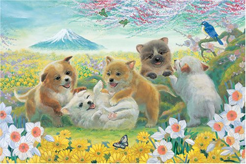 [1000 pieces] Good Fortune Dogs Jigsaw Puzzle (75 x 50 cm) Japan by appleone
