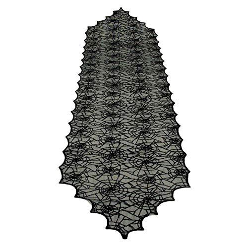 Halloween Dekoration Schwarze Spitze Spinne Webs Stil Tischläufer Abdeckung Tischdecke für Dinner-Party Scary Film Nächte Tisch Dekor 18x72 Zoll