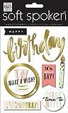 me & my BIG ideas Soft Spoken Themed Embellishments, Hooray Birthday
