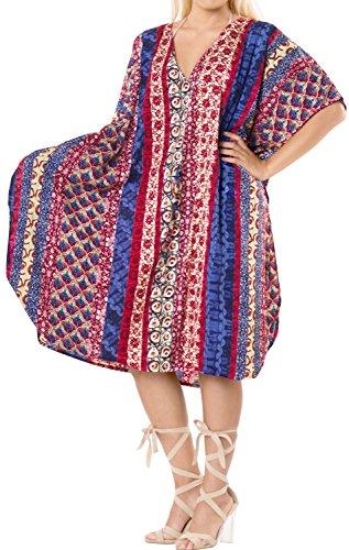 LA LEELA Mujer Kaftan Túnico Impreso Kimono Estilo