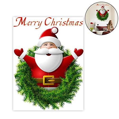 Weihnachten Wandaufkleber dekorative abnehmbare Santa Fenster Aufkleber Wand Kunst Aufkleber - Santa-fenster