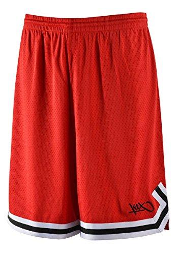 K1X Hardwood Big Mesh Double X Shorts mk2 Basketball rot-schwarz rot-schwarz, S
