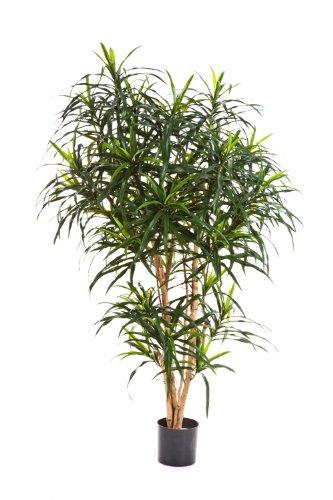 artplants – Künstliche Dracaena Reflexa Anita Katara, 1220 Blätter, grün, 120 cm – Kunstpflanze/Künstliche Palme