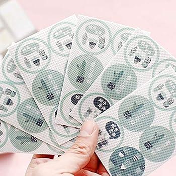 Xiton 36 PCS/Box De Plein air Patchs Anti-Moustiques Sticker insectifuge Naturel Motif Sakura Mignon Coffre-Fort Anti-Insectes pour Les Enfants et Les Adultes (Cactus)